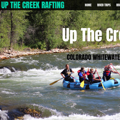 Up The Creek Rafting website development