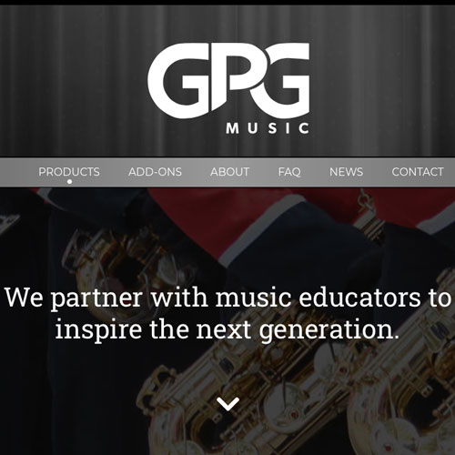 GPG Music Website Design